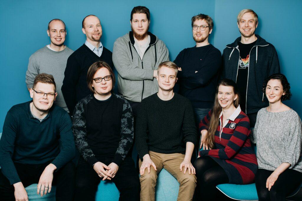 Polyconin ohjelmistokehittäjien ryhmäkuva